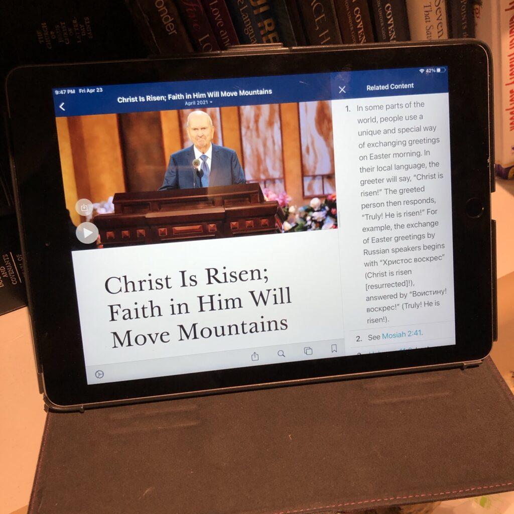 Gospel Library App General Conference