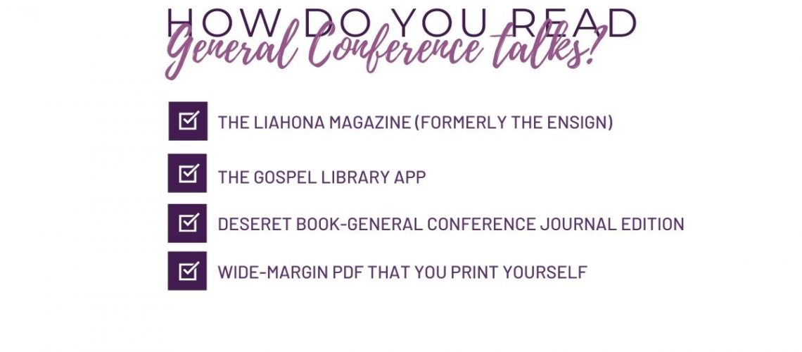 read general conference talk